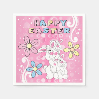 Happy Easter Bunny Fun Disposable Serviette