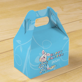 Happy Easter Bunny in Baby Blue Favour Box
