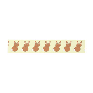 Happy Easter Bunny Invitation Belly Band