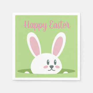 Happy Easter Bunny Napkins Disposable Napkin