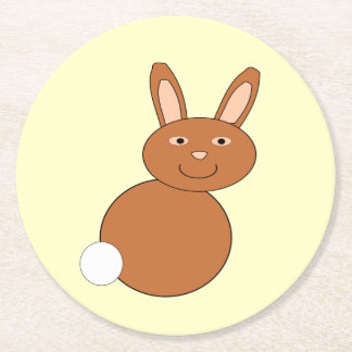 Happy easter Bunny Paper Coasters Round Paper Coaster
