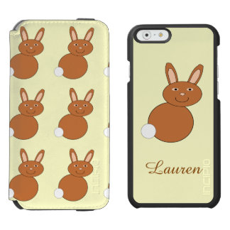 Happy Easter Bunny Personalized iPhone Case Incipio Watson™ iPhone 6 Wallet Case