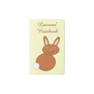 Happy Easter Bunny Personalized Pocket Moleskine Notebook