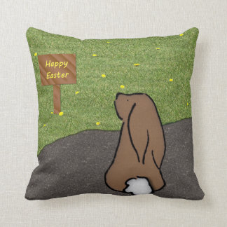 Happy Easter Bunny Pillow