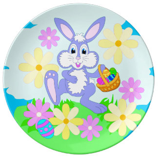 Happy Easter Bunny Porcelain Plate