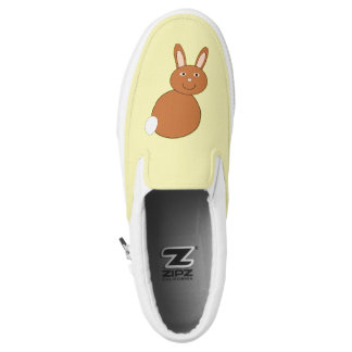 Happy Easter Bunny Slip On Shoes