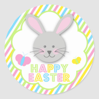 Happy Easter Bunny Stickers