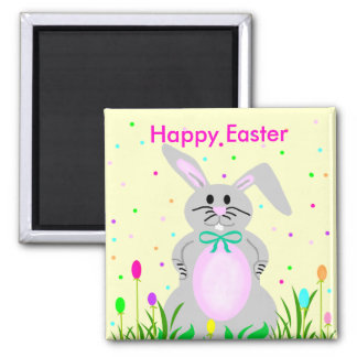 Happy Easter Bunny template magnet