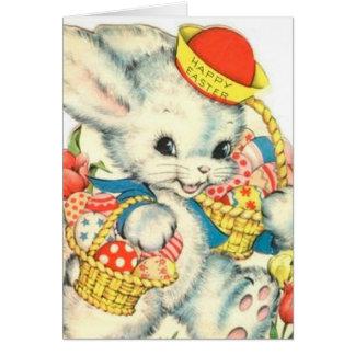 Happy Easter Bunny Vintage Nostalgic card