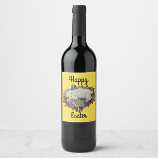 Easter wine gifts t shirts art posters other gift ideas zazzle happy easter bunny wine label negle Images