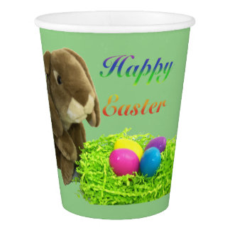 Happy Easter Bunny with Nest