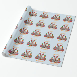 Easter basket wrapping paper zazzle happy easter bunny wrapping paper negle Image collections