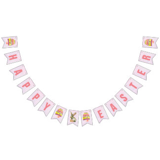 Happy Easter Bunting Flag Banner