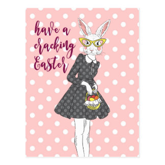 happy easter card bunny personalized