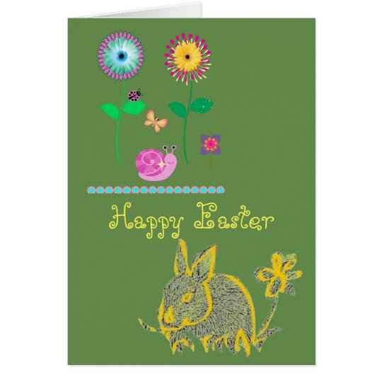 Happy Easter Card for a cool modern look!