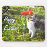 Happy Easter cat mousepad