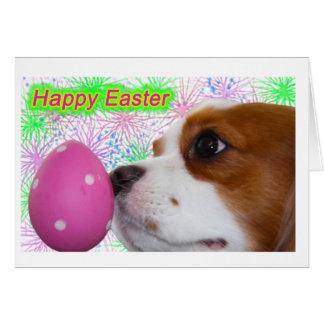 Happy Easter Cavalier King Charles Spaniels Greeting Card