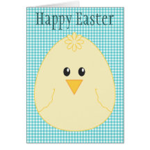 Happy Easter Chick Greeting Card