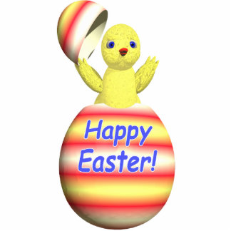 Happy Easter Chick Popup Standing Photo Sculpture