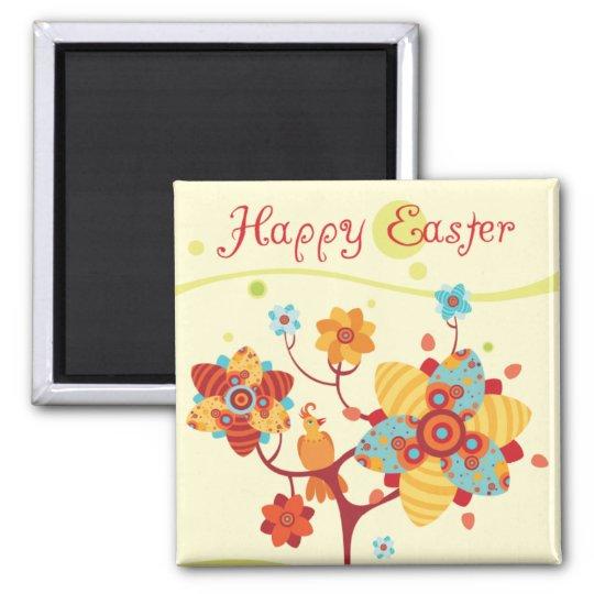 Happy Easter Chicks Magnet