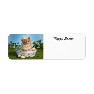 Happy Easter Chihuahua label Return Address Label