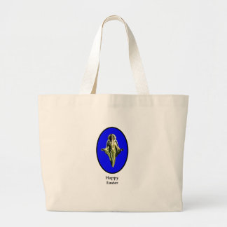 Happy Easter Christ Image Canterbury Blue Bags