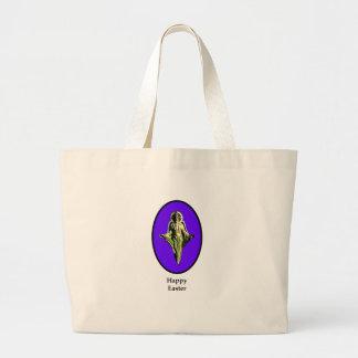 Happy Easter Christ Image Canterbury Purple Bag