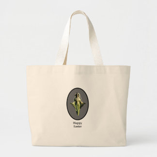 Happy Easter Christ Image Canterbury Silver Tote Bag