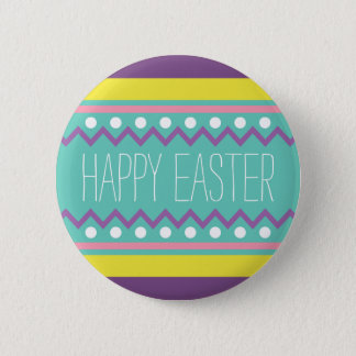 Happy Easter - Colorful Egg Design 6 Cm Round Badge