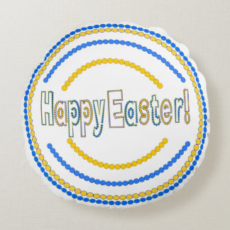 Happy easter colorful pillow with beads