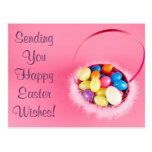Happy Easter Customisable Pretty PInk Basket