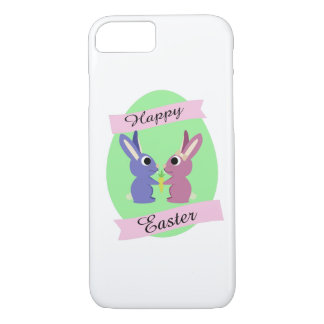 Happy Easter! Cute bunnies iPhone 7 Case