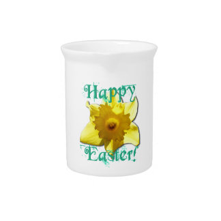 Happy Easter, Daffodil 01.2.2.T Pitcher