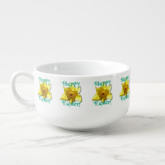 Happy Easter! Daffodils 01.g Soup Mug