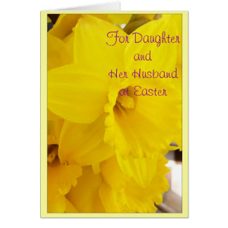 Happy Easter Daughter And Son-in-Law Card Flower