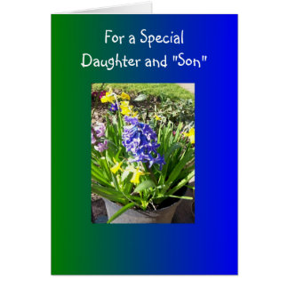 Happy Easter Daughter And Son-in-Law Card Hyacinth