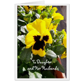 Happy Easter Daughter And Son-in-Law Card Pansy