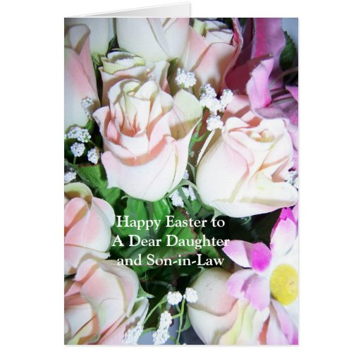 Happy Easter Daughter And Son-in-Law Card Roses