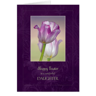Happy Easter Daughter Card / Easter Tulips