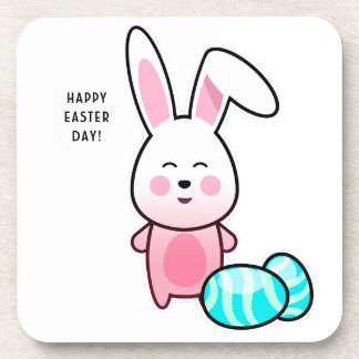 Happy Easter Day Drink Coaster