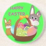 HAPPY EASTER DRINK COASTERS