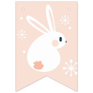 Happy Easter. Easter Bunny. Bunting