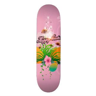 Happy easter, easter design custom skateboard