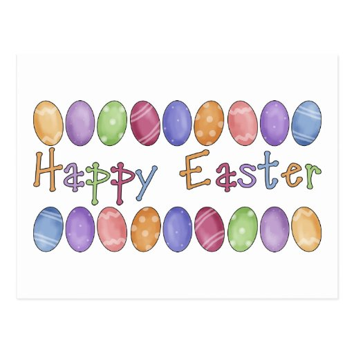 Happy Easter - Easter Egg Border Tees and Gifts
