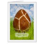 Happy Easter - Easter Egg -  Giraffe Skin Photo Note Card