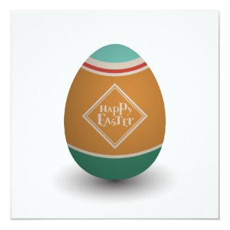 happy easter egg 13 cm x 13 cm square invitation card