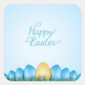Happy Easter Egg Design Square Sticker