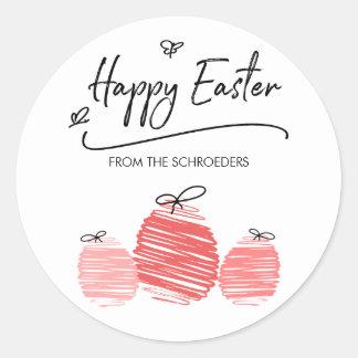 Happy Easter Egg Doodle Sticker