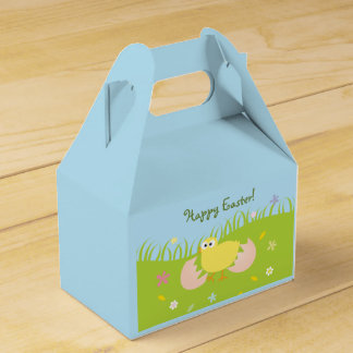 Happy Easter Egg Hunt Party Cute Baby Chick Favour Box