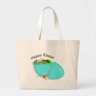 """HAPPY EASTER"" EGG LARGE TOTE BAG"